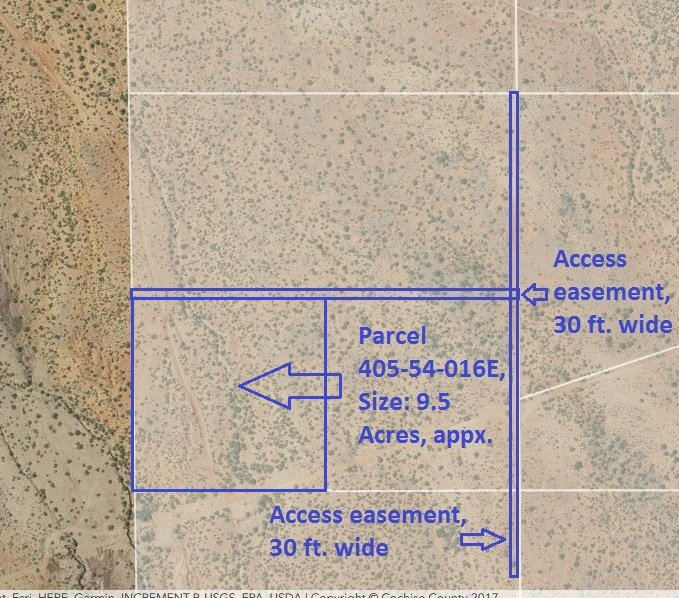 Map, Parcel 405-54-016E