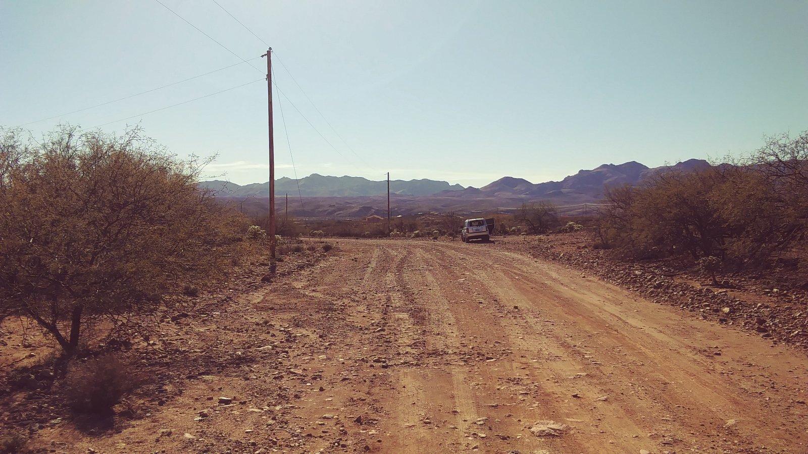 Facing West at the corner of Via Medusa and Linda Ct
