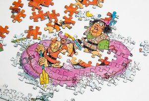 Selling Your House While Divorcing in - Couple in Jigsaw Puzzle sinking