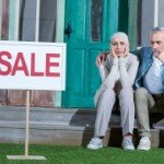 How Long Does It Take To Sell My House | frustrated older couple sale sign