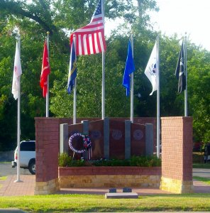 Local real estate agent Floresville TX photographs Veterans Memorial