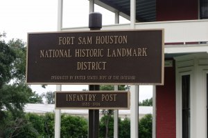 Fort Sam Houston San Antonio Tx historic landmark plack