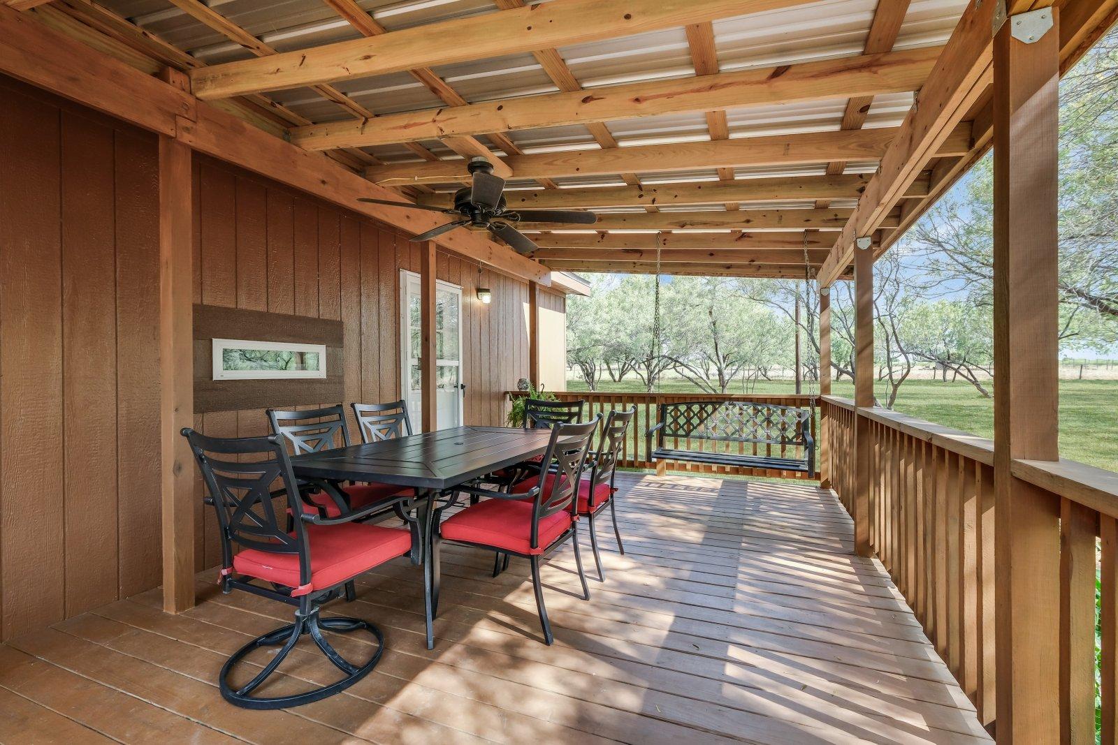 17280 Shady Falls Elmendorf TX home for sale rear deck