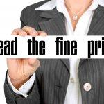 Contract - Read the fine print