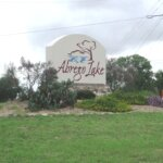 Floresville Tx - abrego Lake - entrance sign