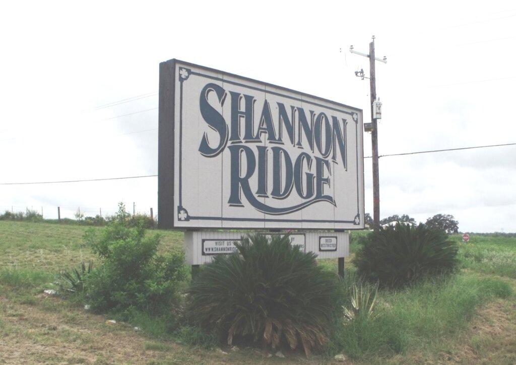 Shannon Ridge subdivision - Floresville Tx