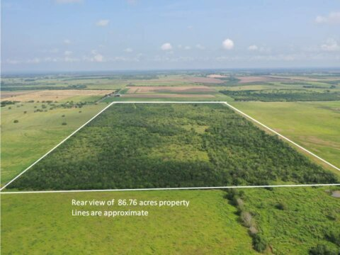 86.76 acres rear view of 8220 FM 1347 Stockdale Tx