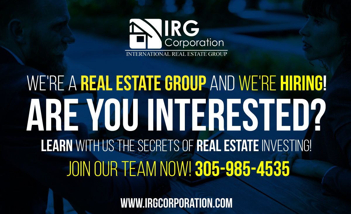We're hiring - IRGCorporation