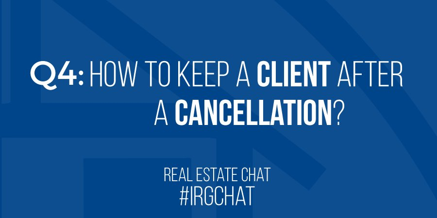 How to keep a client after a cancelation?