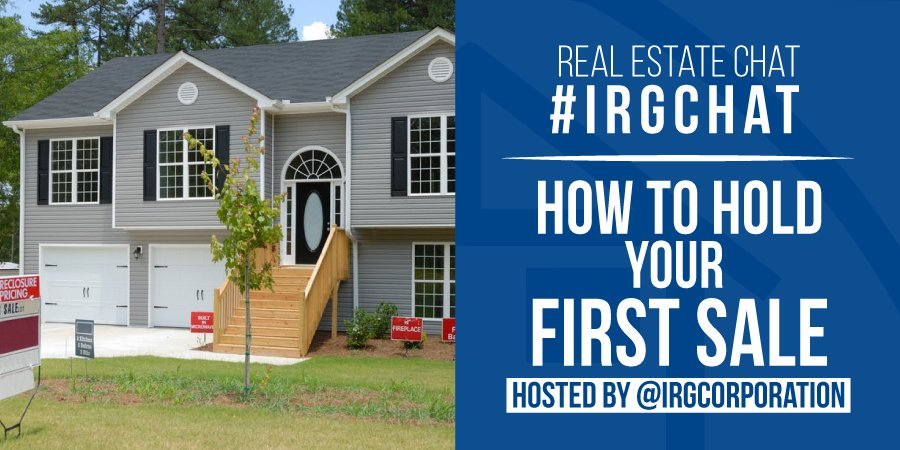 How to hold you first sale! [#IRGChat]