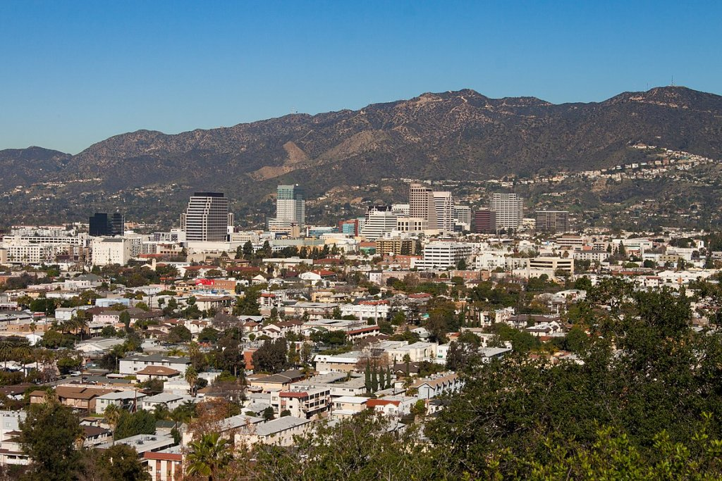 a skyview of Glendale California