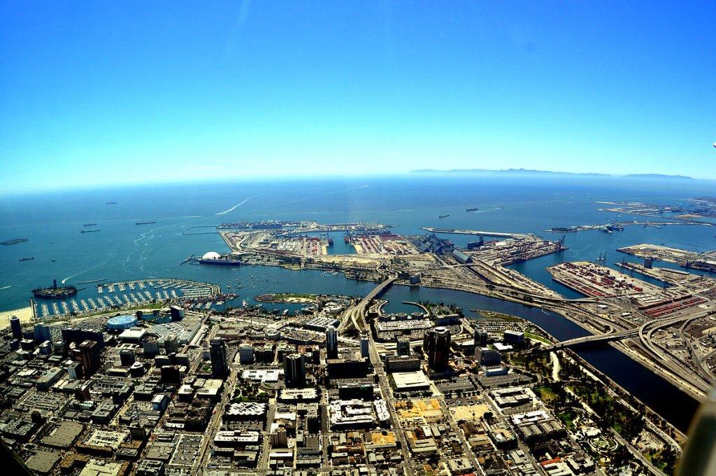 sky view of Long Beach California