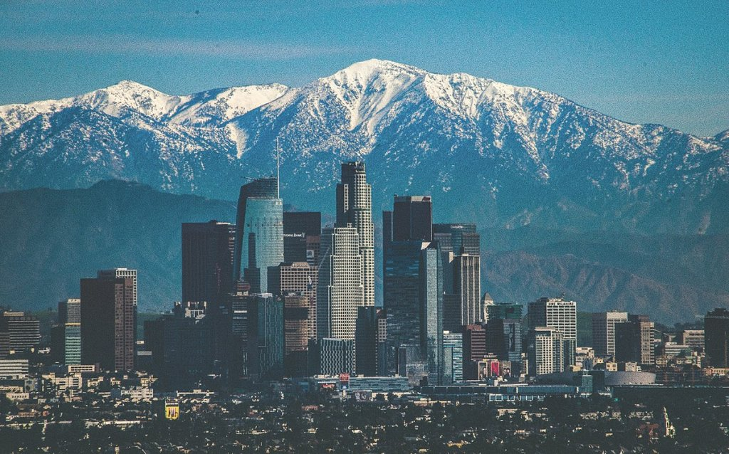 skyline view of Los Angeles