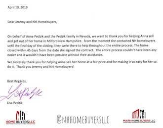 NH Homebuyers LLC Edward Lisa Pedzik