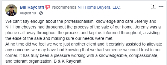 NH Home Buyers LLC Reviews Bill Raycraft