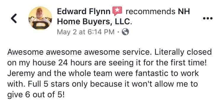 NH Home Buyers LLC Reviews Edward Flynn