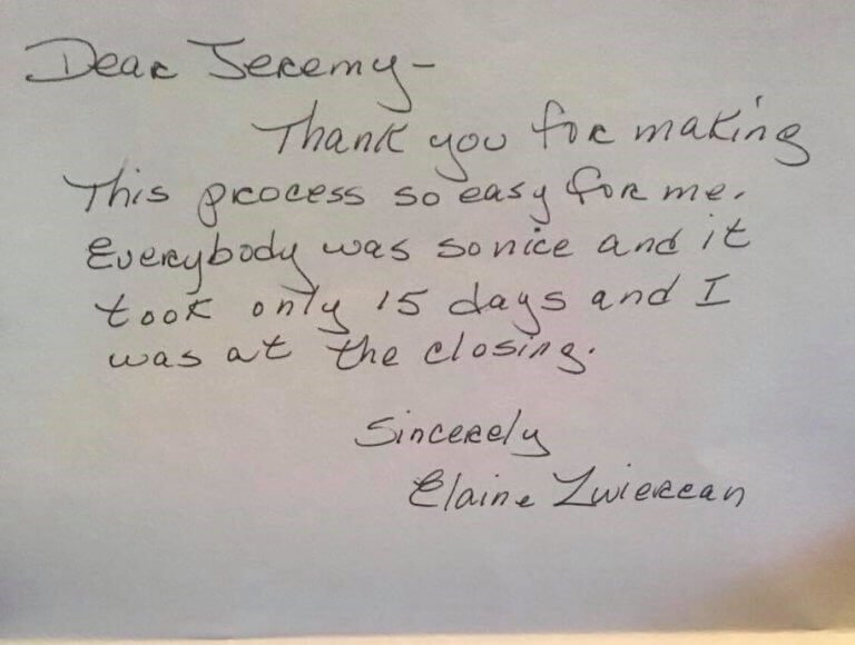 NH Home Buyers LLC Reviews Elaine Z