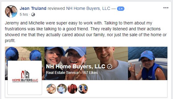 NH Home Buyers LLC Reviews Jean Truland