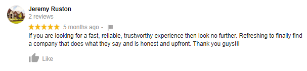 NH Home Buyers Google Review: Jeremy Ruston