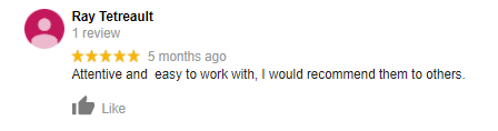 NH Home Buyers Google Review: Ray Tetreault
