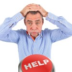 can't sell my house | stressed white man help button