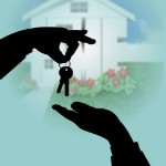 how to sell your home quickly | handing keys shadow