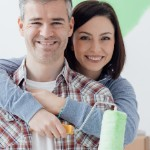 Being A Landlord | couple painting green