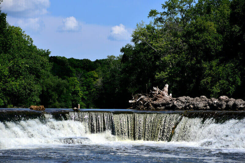 waterfall at Kletzsch Park - things in to do in Fox Point, Wisconsin