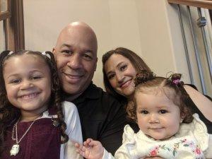 Drew Allum and his family