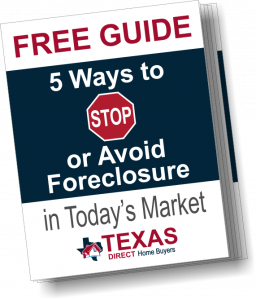 Texas Direct Home Buyers 5 ways to stop foreclosure cover