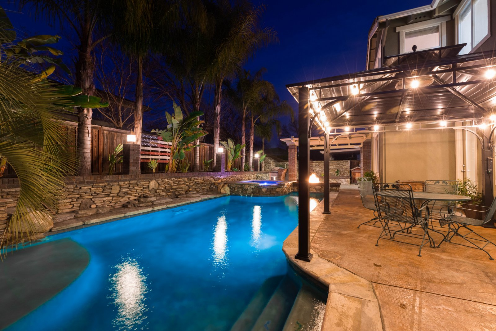 Backyard with pool for sale in Brentwood, CA