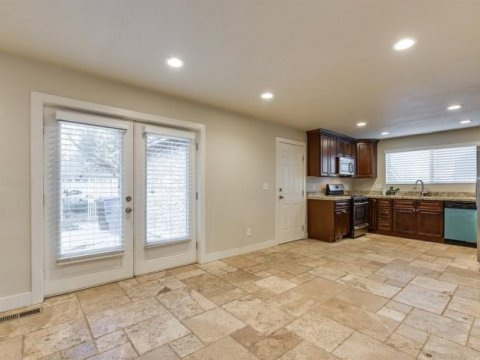 Kitchen of a rent to own home in Holladay Utah
