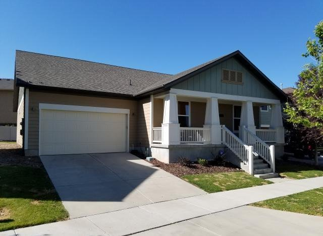 Front of home in South Jordan UT rent to own homes