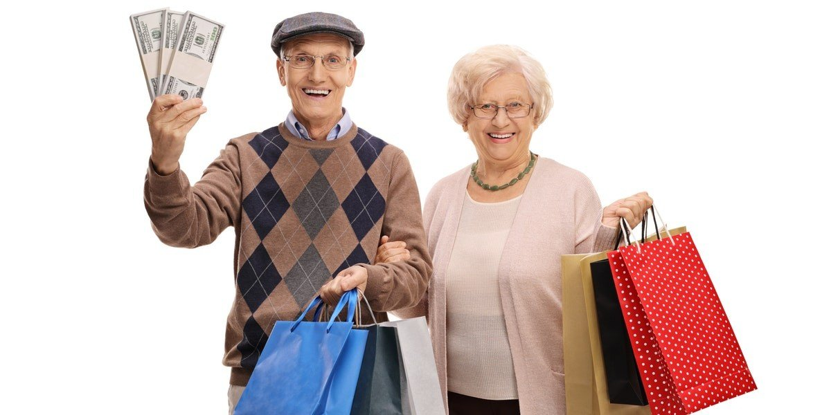 ideas for reinvestment | old couple money shopping