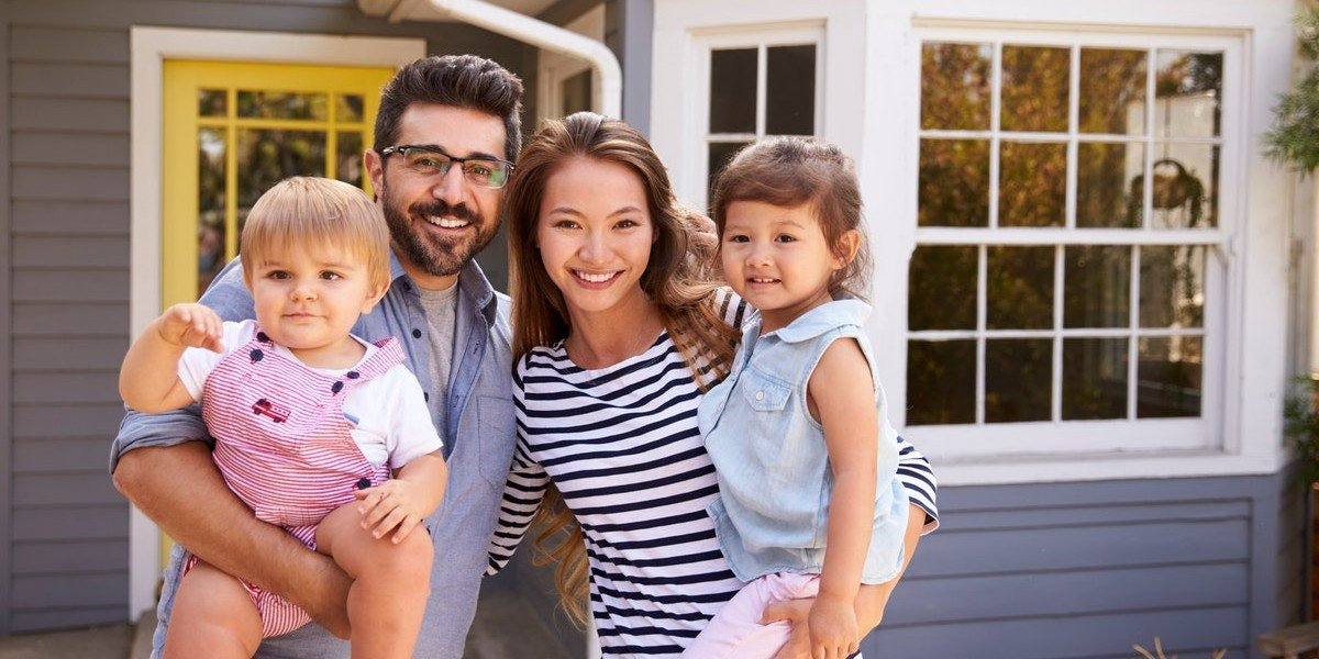 First time home sellers | happy family