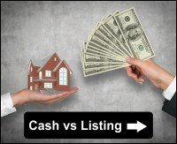 Selling to a cash buyer vs listing with a realtor in Riverside
