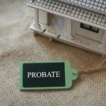 model house with probate tag - house in probate