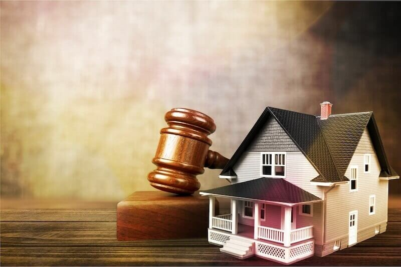 gavel and model house - Rhode Island Foreclosure Process