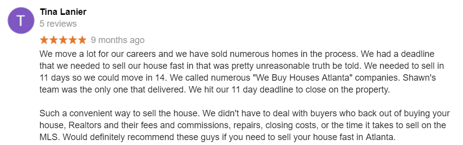 Fast Cash For Homes Complaints - We Buy Houses Unethical Sandy Springs