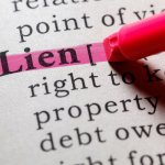 Definition for what is a lien highlighted