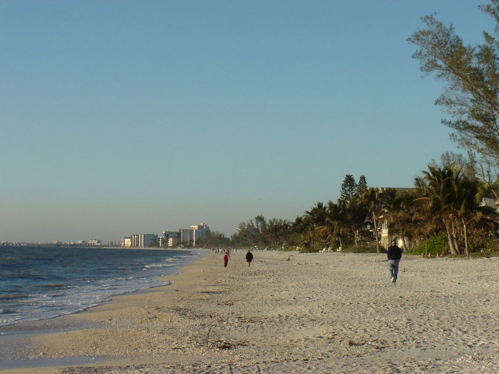 people walking on Bonita Beach in Bonita Springs FL