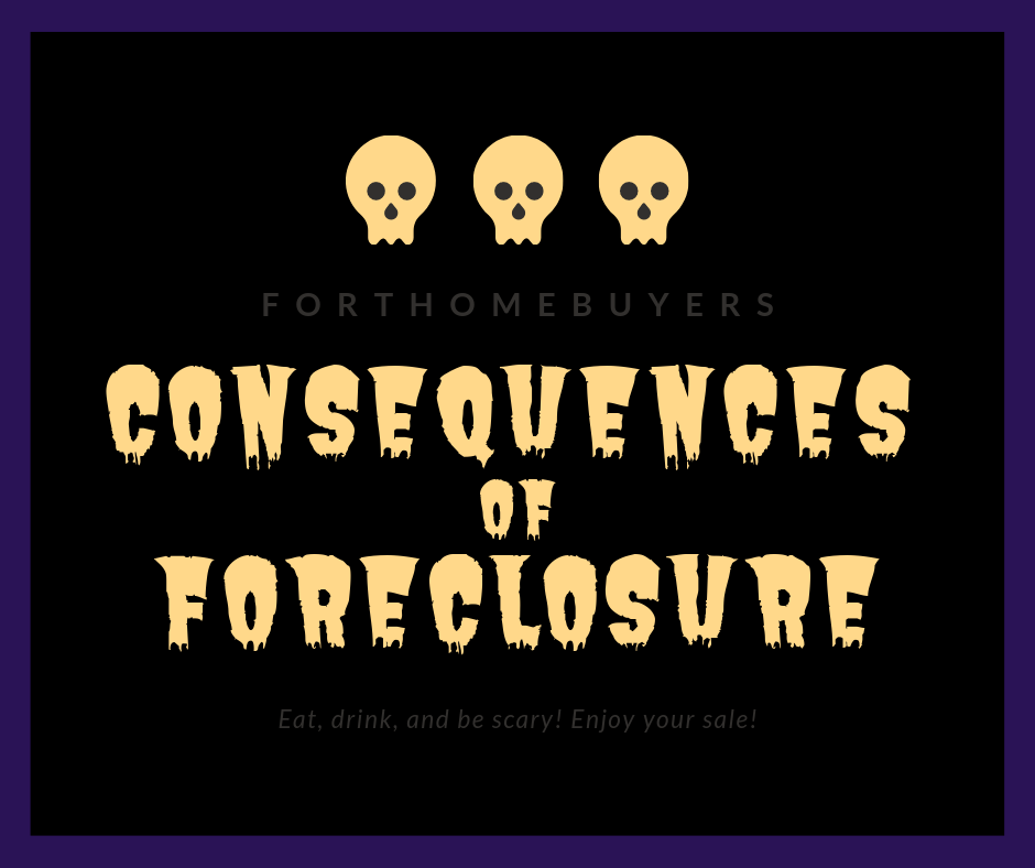Consuquences of forelcosure