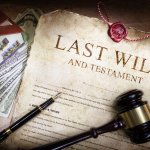 Last will and testament with a house and money