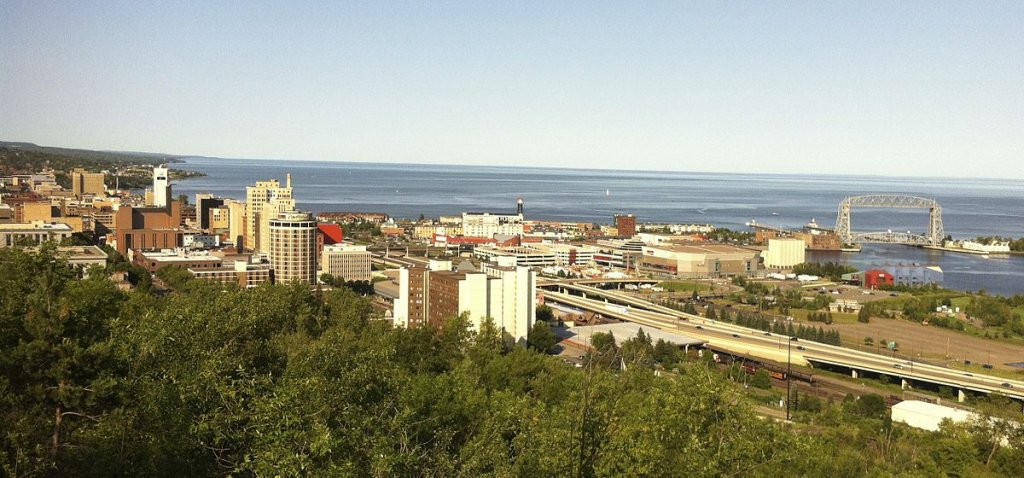 View of the city on the sell your house fast in Duluth MN page