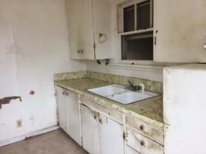 Kitchen looks 68 years old, or worse.
