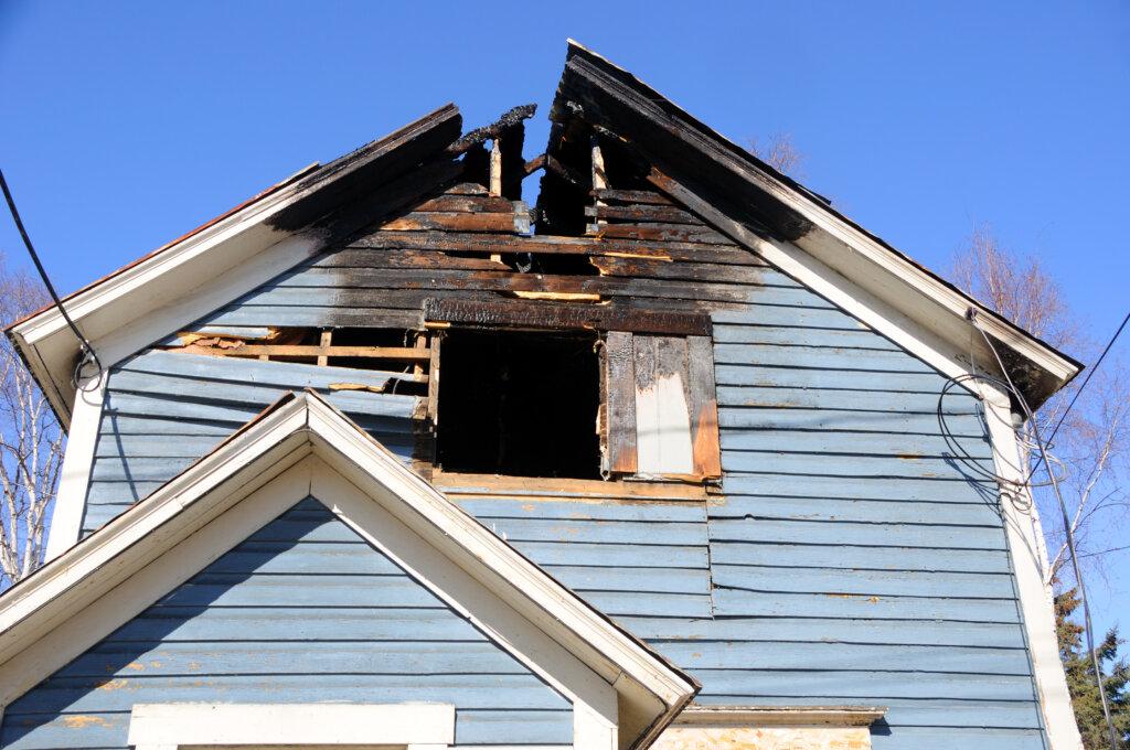 Houston fire damage house
