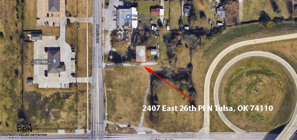 E 26th Pl N Tulsa - map view