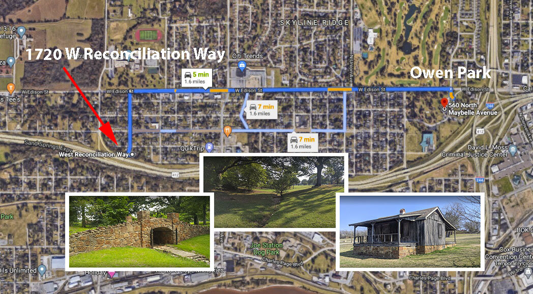 W Reconciliation Way Tulsa - maps