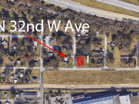 N 32nd W Ave - map