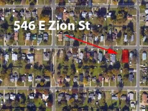 E Zion St - maps